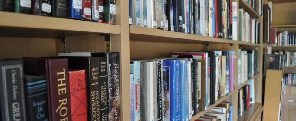 Book collection at Wesley Manor