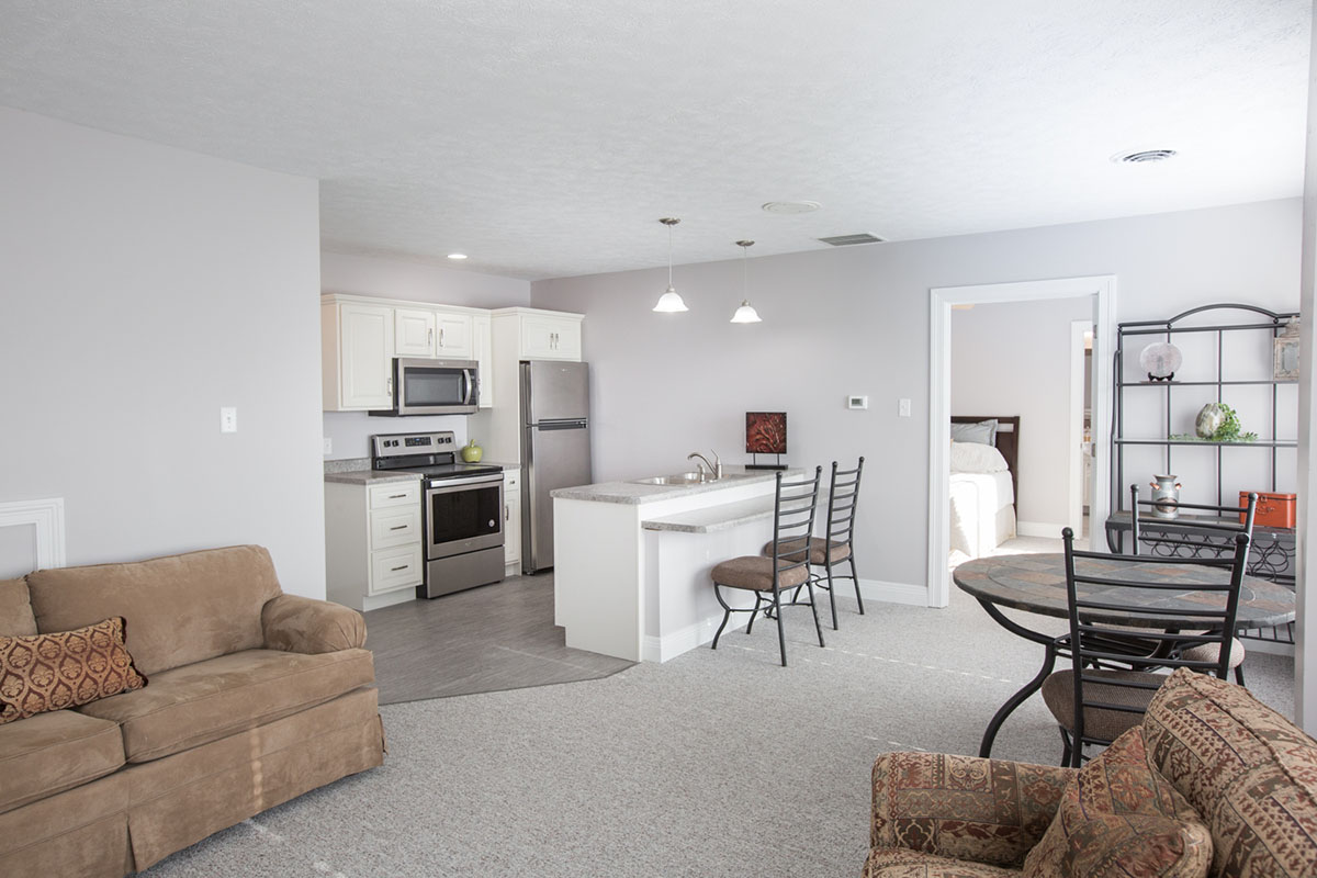Spacious open concept apartments